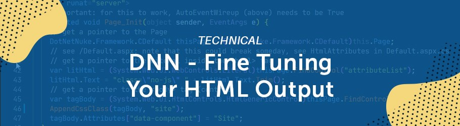 DNN - Fine Tuning Your HTML Output