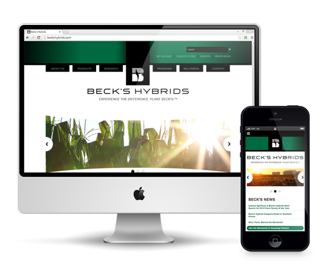 Beck's Hybrids Website Redesign | Accuraty Solutions Portfolio