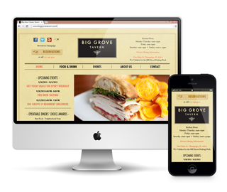 Big Grove Tavern Website