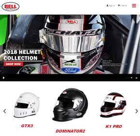 Bell Racing, Advanced eCommerce and Website CMS